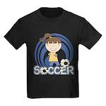 Girls Soccer Kids Dark T-Shirt