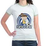 Girls Soccer Jr. Ringer T-Shirt