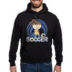 Girls Soccer Hoodie (dark)