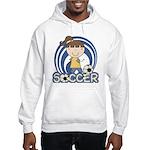 Girls Soccer Hooded Sweatshirt