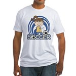 Girls Soccer Fitted T-Shirt