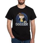 Girls Soccer Dark T-Shirt