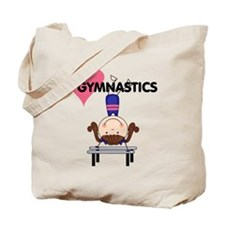 Girl Gymnast Handstands Tote Bag