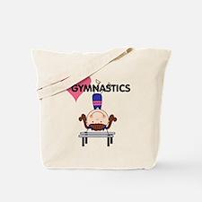 Girl Gymnast Handstands Tote Bag