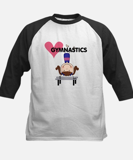 Girl Gymnast Handstands Kids Baseball Jersey