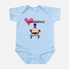Girl Gymnast Handstands Infant Bodysuit