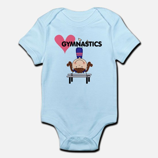 Girl Gymnast Handstands Infant Bodysuit