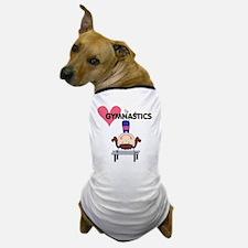 Girl Gymnast Handstands Dog T-Shirt