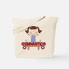 Girl Gymnast Doing Splits Tote Bag