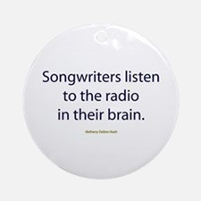 Songwriters Radio Ornament (Round)