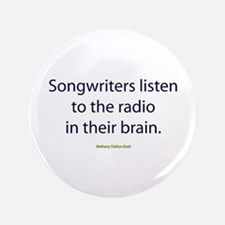 """Songwriters Radio 3.5"""" Button"""