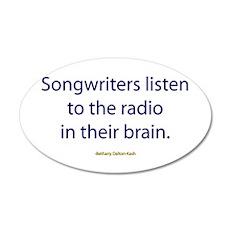 Songwriters Radio 22x14 Oval Wall Peel