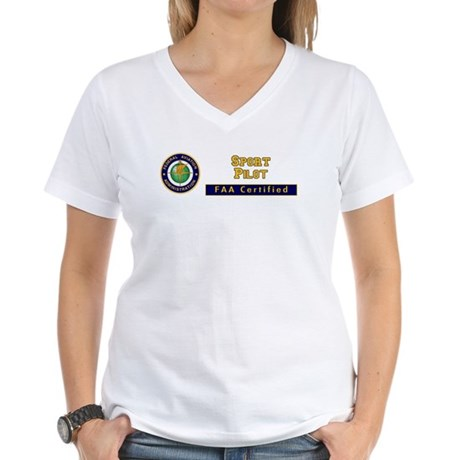 FAA Certified Sport Pilot Women's V-Neck T-Shirt