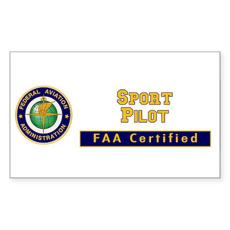 FAA Certified Sport Pilot Sticker (Rectangle)