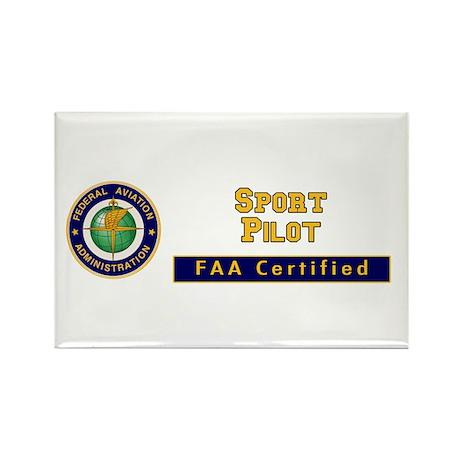 FAA Certified Sport Pilot Rectangle Magnet