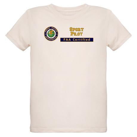 FAA Certified Sport Pilot Organic Kids T-Shirt