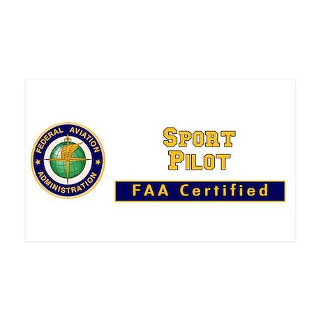 FAA Certified Sport Pilot 38.5 x 24.5 Wall Peel