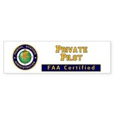 Private Pilot Bumper Bumper Sticker