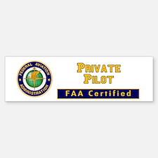 Private Pilot Bumper Bumper Sticker