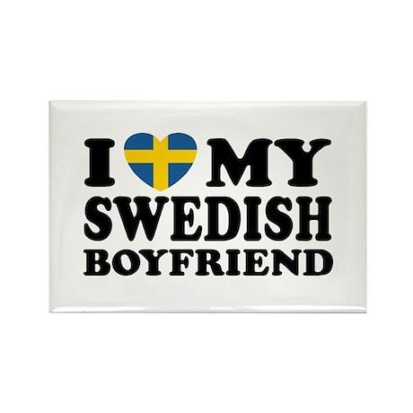 I Love My Swedish Boyfriend Rectangle Magnet