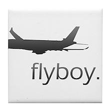 Flyboy Airline Pilot Tile Coaster