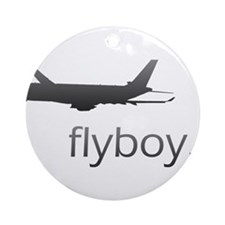 Flyboy Airline Pilot Ornament (Round)
