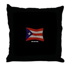 Puerto Rico Flag Graffiti Throw Pillow