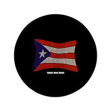 "Puerto Rico Flag Graffiti 3.5"" Button"