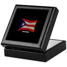Puerto Rico Flag Graffiti Keepsake Box