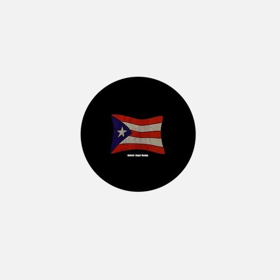 Puerto Rico Flag Graffiti Mini Button