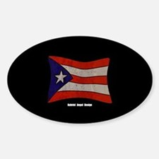Puerto Rico Flag Graffiti Sticker (Oval)