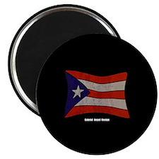 Puerto Rico Flag Graffiti Magnet