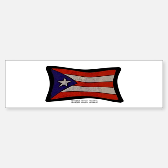 Puerto Rico Flag Graffiti Sticker (Bumper)