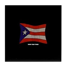Puerto Rico Flag Graffiti Tile Coaster