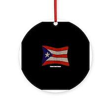 Puerto Rico Flag Graffiti Ornament (Round)