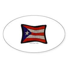 Puerto Rico Flag Graffiti Decal