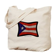 Puerto Rico Flag Graffiti Tote Bag