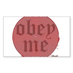 Trance-Obey Me Rectangle Sticker