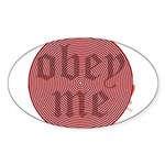 Trance-Obey Me Oval Sticker