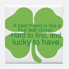 Cute Cute best friend saying Tile Coaster