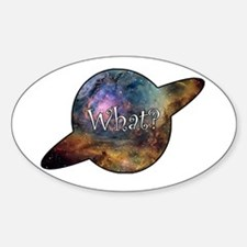What? Oval Decal