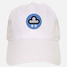 Snow Weather Symbol Baseball Baseball Cap