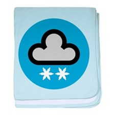 Snow Weather Symbol baby blanket