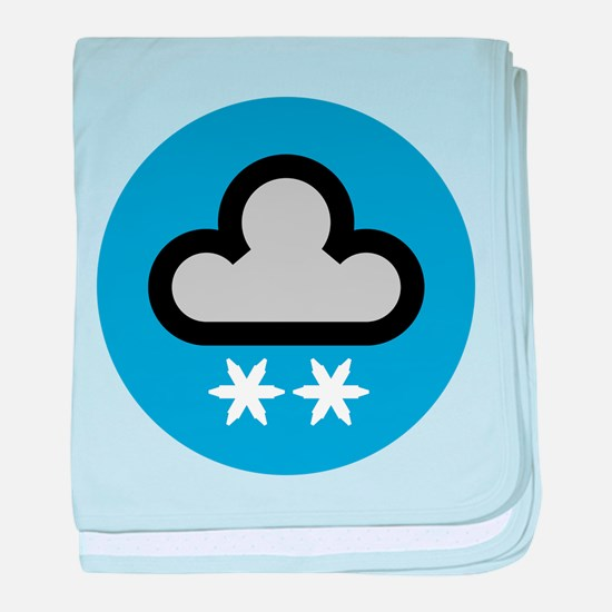Snow Weather Symbol baby blanket