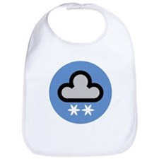Snow Weather Symbol Bib