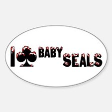 I Club Baby Seals Decal
