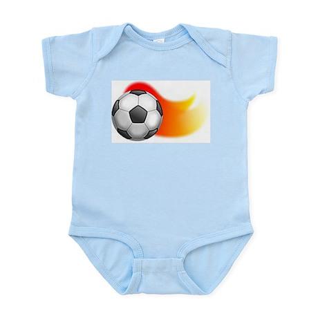 Flaming Soccer Ball Infant Bodysuit