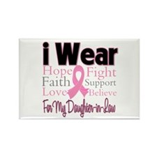 DaughterinLaw Breast Cancer Rectangle Magnet