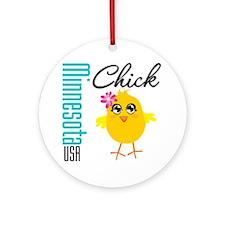 Minnesota Chick Ornament (Round)