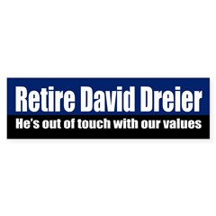 Retire David Dreier bumper sticker